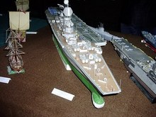 Russia Aircraft carrier 3D paper model class Aegis destroyer warship toy paper art(China (Mainland))
