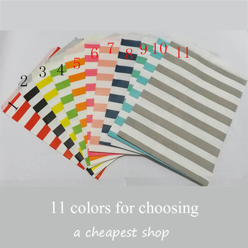 "100pcs 5""x7""(13x18cm)Kraft series Chevron stripes Bags,Popcorn Bags,Party Food Paper Bag For Wedding Birthday Party Supply"