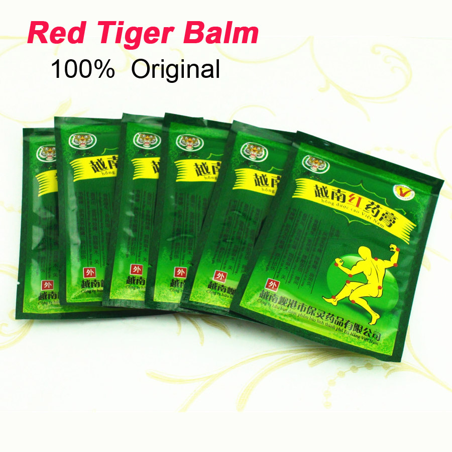 Гаджет  48pcs Vietnam Red Tiger Balm Plaster Creams Neck Body Massager Meridians Pain Relief Patch  Arthritis White Cervical C077 None Красота и здоровье