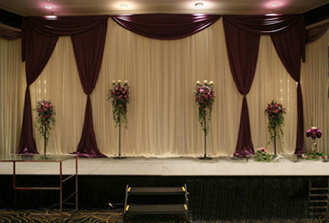 Curtain backdrops for weddings images for Background decoration for wedding