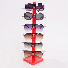 2015 Hot Sale New Fashion Design 6 Pair Sunglasses Eye Glasses Frame Rack Eyewear Counter Holder Display Stand Display Holder