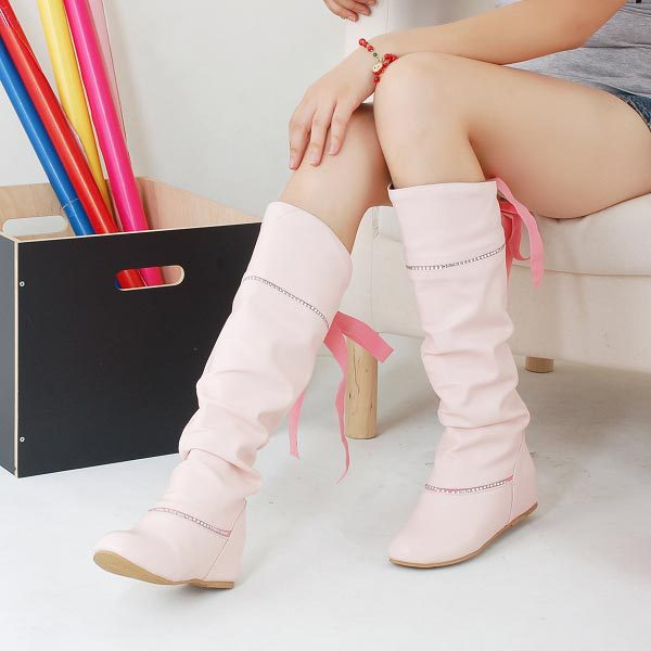 New arrival 2014 ladies fashion flat bottom long boots women autumn winter over knee high leg laether boots low heels tall boots<br><br>Aliexpress