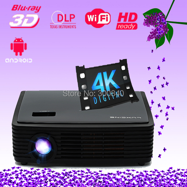 Luxcine 3D LED Projector Z2000SD Smart Android Projector 4K Home Theater Projector(China (Mainland))