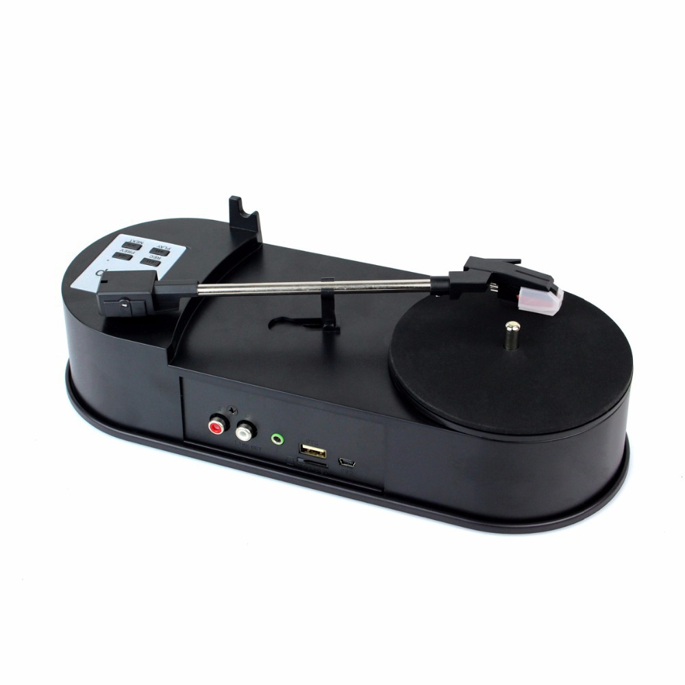 Фотография Portable Phonograph Mini USB Turntable Turnplate Vinyl LP to MP3 USB Flash-Drive Converter with TF Slot D5410A