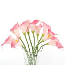 Artificial Calla Lily Bridal Wedding Bouquet head Fake Silk Flower Party Decor(China (Mainland))