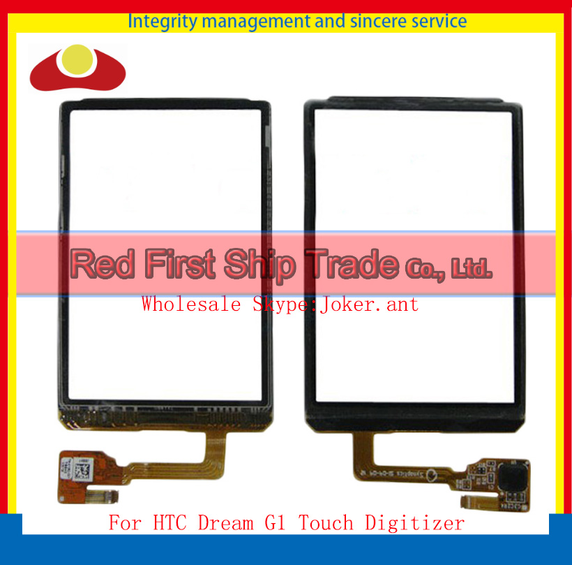 "10Pcs/lot High Quality 3.2"" For HTC Dream G1 Touch Screen Digitizer Sensor Glass Lens Panel Black+Tracking Number(China (Mainland))"