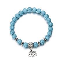 Moda akrylowe dystansowe bransoletki dla kobiet mężczyzn klasyczne czarno-białe Charm bransoletka z koralików i bransoletek biżuteria prezent ns74(China)