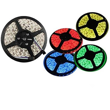 5roll/lot  5050 SMD Warm White Red Green Blue Yellow LED Strip Light (DC12V)  60led/m nonwaterproof <br><br>Aliexpress