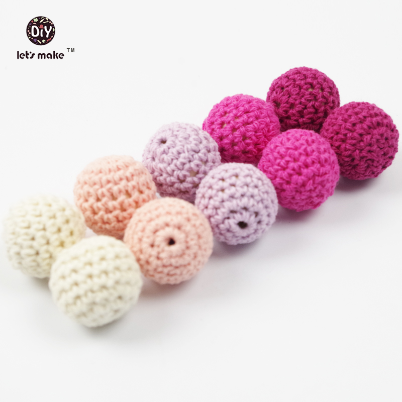 Crochet beads 60 PCS 19 mm Pink Series Wooden crochet cotton beads Round beads in pink shades beige lila color etc(China (Mainland))