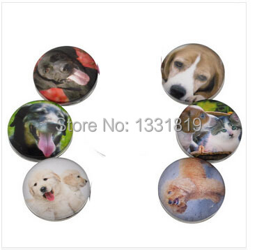 wholesale 60pcs/lot Mix styles New Lovely Dog Animal 18mm Snap Button Glass Ginger Snap Button Charm Jewelry<br><br>Aliexpress