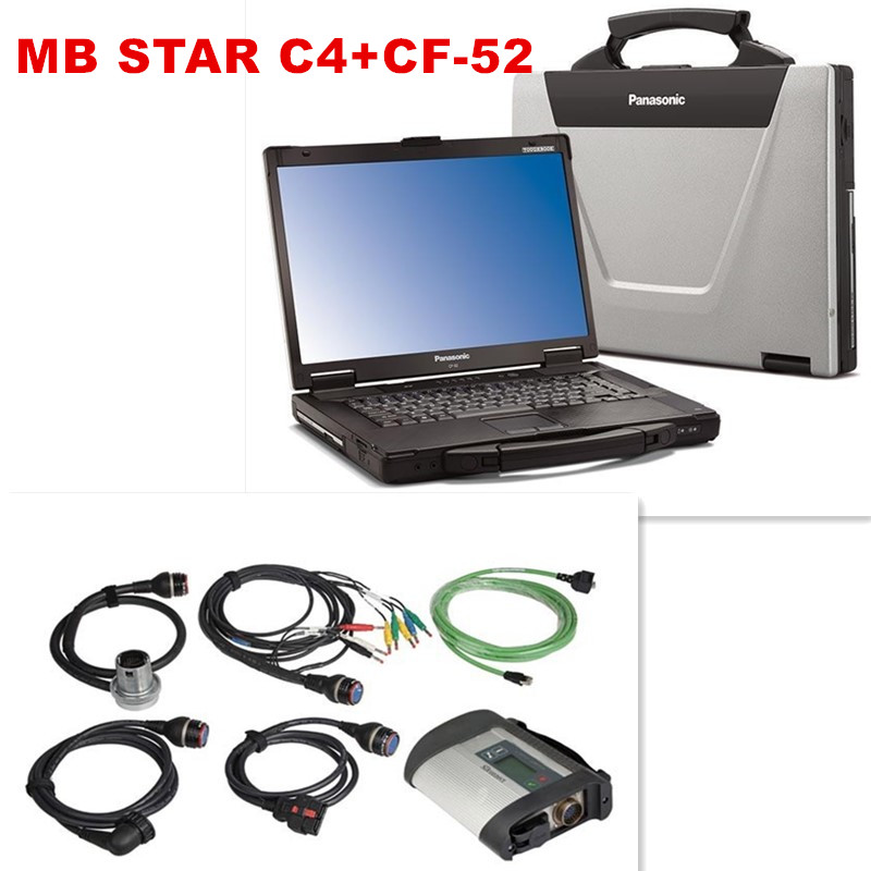 CF52 + MB Star C4 SD Connect + SSD 2015.09 Xentry Diagnostics System Compact 4 Mercedes Diagnosis Multiplexer For Benz Diagnose(China (Mainland))