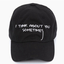 FREE SHIPPING CASQUETTE GIANNI MORA SUMMER NOTE SNAPBACK POLO CAP IAN CONNOR I THINK ABOUT YOU SOMETIMES LETTER BASEBALL CAP(China (Mainland))
