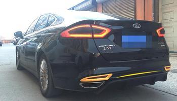 ABS car Rear diffuser bumper protector, original design for Ford Escort/New Mondeo 2013-2015, no drilling needed