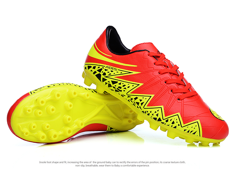 Original Football Shoes For Men Boy Cheap Football Cleats Red Blue Shoes Soccer 2016 Leather Football Athletics Spikes Sneakers(China (Mainland))