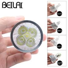 BEILAI 10PCS Dimmable LED Lamp E27 220V 110V GU10 LED Spotlight 3W 4W 5W 85-265V MR16 12V GU5.3 Bombillas LED Bulbs Light Luz(China (Mainland))