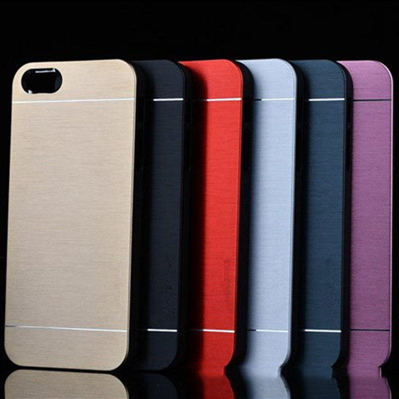 Slim Metal Cases Luxury Fashion Ultra Thin Aluminum Cell Phone Case For iPhone 4 4S 5 5S 5G SE 6 6S 6Plus 7 7Plus Back Cover(China (Mainland))