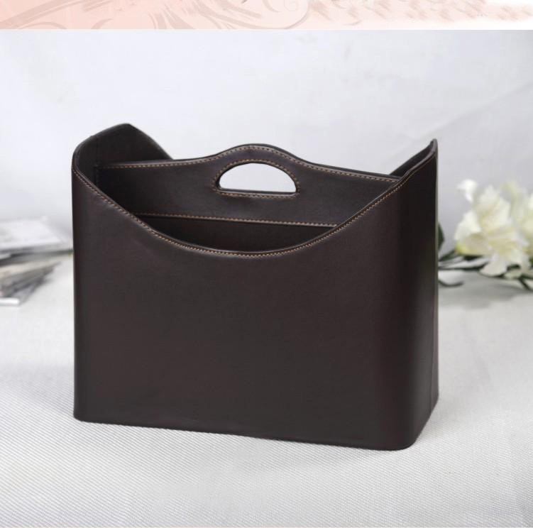 new fashion home leather gift basket storage basket for newspaper magazine clothes sundries wine 280B(China (Mainland))