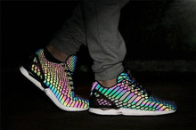 2016 classic shell head men casual Bright lights shoes Shining snake woman 3M colorful chameleon female reflective  couple shoes(China (Mainland))