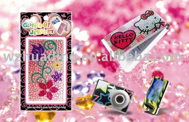 High Quality, Diamond mobile phone sticker! Freeshipping + More than 100 designs for your choice !