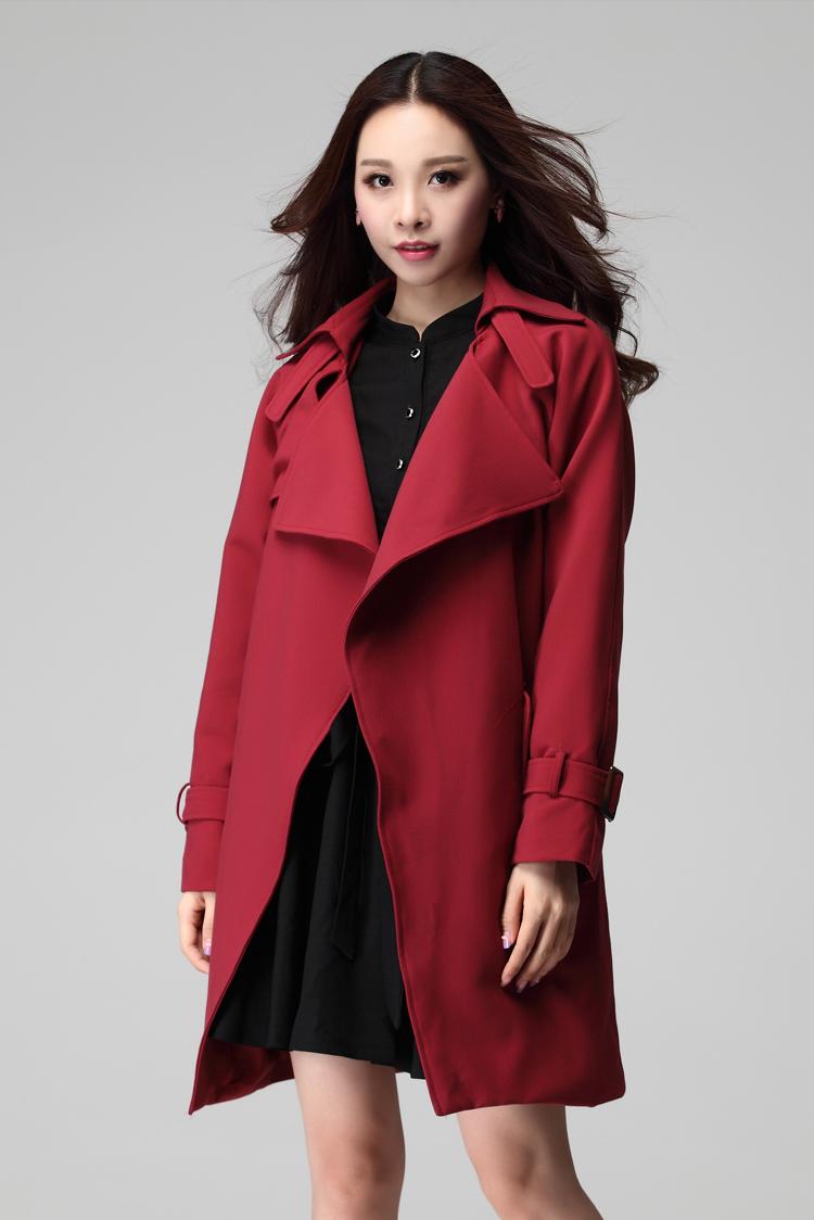 Здесь можно купить  NEW 2015Autumn Fashion Women Plus size long trench coat big lapel collar outwear cardigan long sleeve loose slim blouse topXXXXL  Одежда и аксессуары