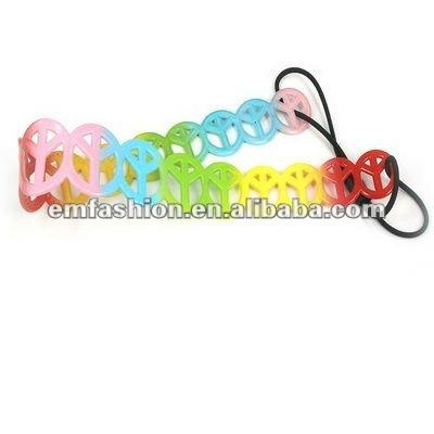 Express Free shipment 50ps/lot wholesale mix design mix color fashion PVC headbands for kids(China (Mainland))