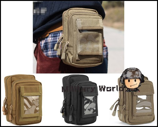 ROGISI 1000D Tactical Molle Double Layers Utility Durable Portable Outdoor Sports Sundries Bag Pouch Waist Bag Pouch Case Men(China (Mainland))