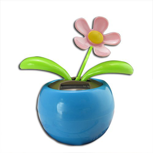 GSFY-Blue Magic Cute Flip Flap Swing Dancing Solar Powered Flower Toys(China (Mainland))