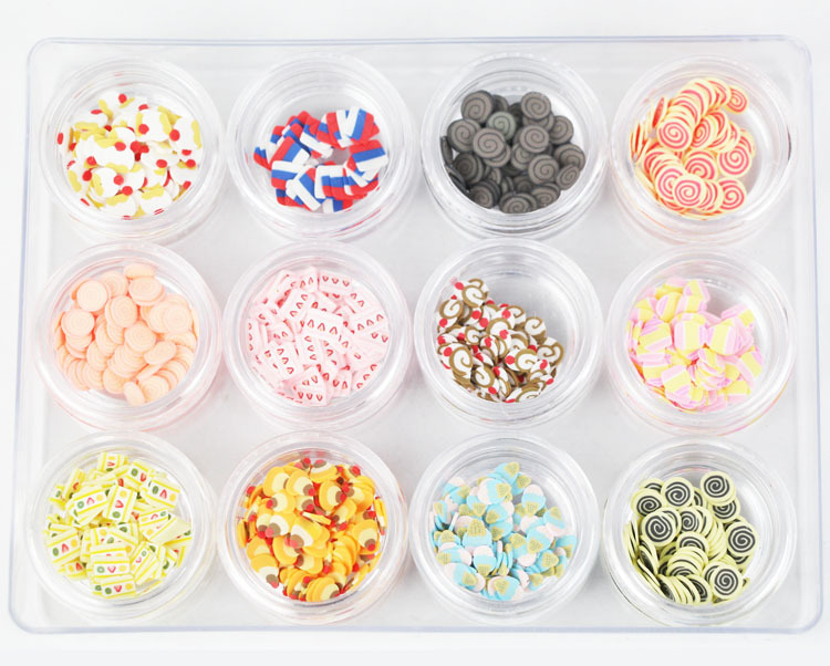 2015 12 Designs Mixed Nail Sticker 96g 60Box Packed Ice Cream Cake Stickers Decals SD-007 - DODO Modern World store