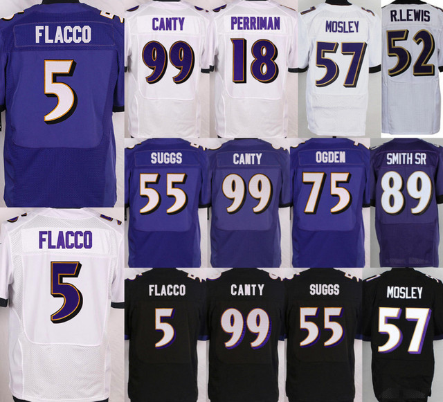 Men 5 Joe Flacco Jersey 52 Ray Lewis 57 C.J. Mosley 22 Jimmy Smith 87 Maxx Williams 88 Dennis Pitta 89 Steve Smith Sr Jersey