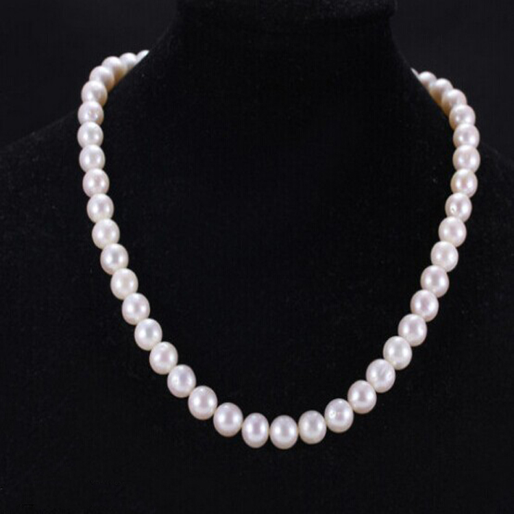 TOP fashion women brand crystal necklace jewelry gift 10MM big pearl necklace 0002(China (Mainland))