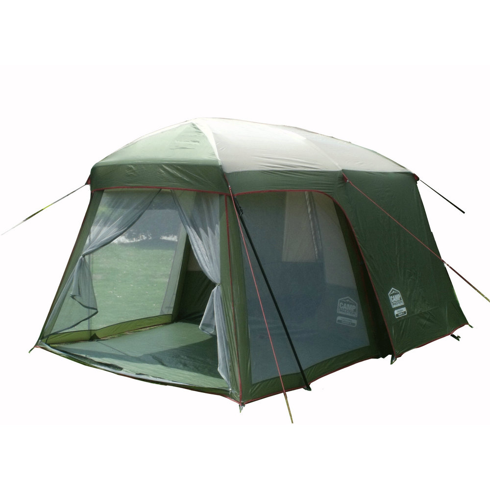 Ultralarge high quality one hall one bedroom 5-8 person double layer 200cm height waterproof camping tent(China (Mainland))