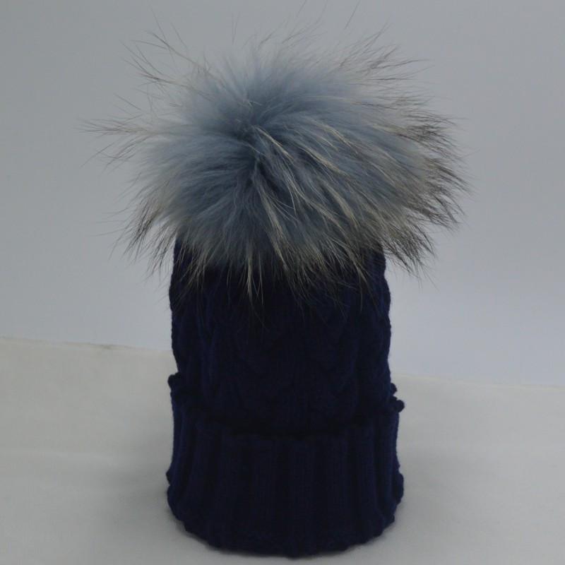 2015 новинка красный шапочка шапка с меховым пом зима Deyed енота меховые шапки для женщины и девушки Skullies шапки