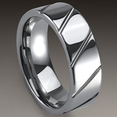 1pcs Best selling New Arrival Guaranteed 100% 8MM Man's Tungsten Carbide Slash Wedding Band Ring Gift By EMS shipping