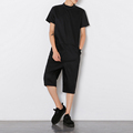 2016 New Fashion Zipper Designer Drop Crotch Cargo Pants Mens Jumpsuit Overalls Joggers Trousers Black Plus