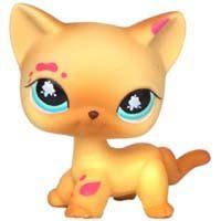 Raros brinquedos de pet shop em pé pouco gato cabelo curto rosa #2291 cinza #5 preto #994 original de idade brinquedos para animais de estimação gatinho frete grátis(China)