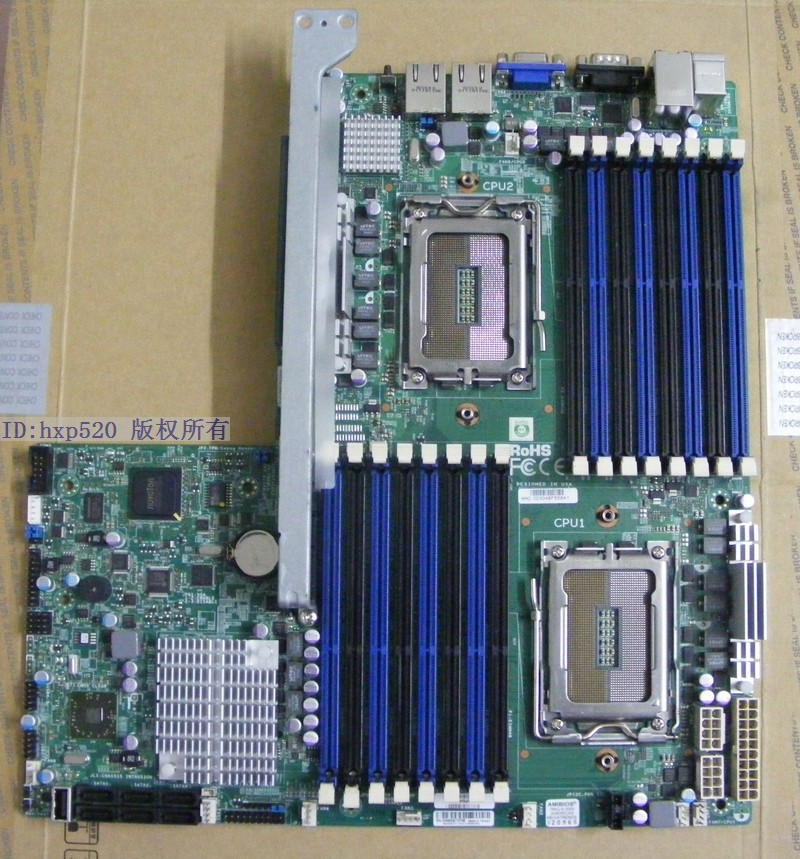 H8DGU-F dual Opteron supports AMD 8 -core 12-core 16 -core G34 DHL EMS free shipping Used disassemble(China (Mainland))