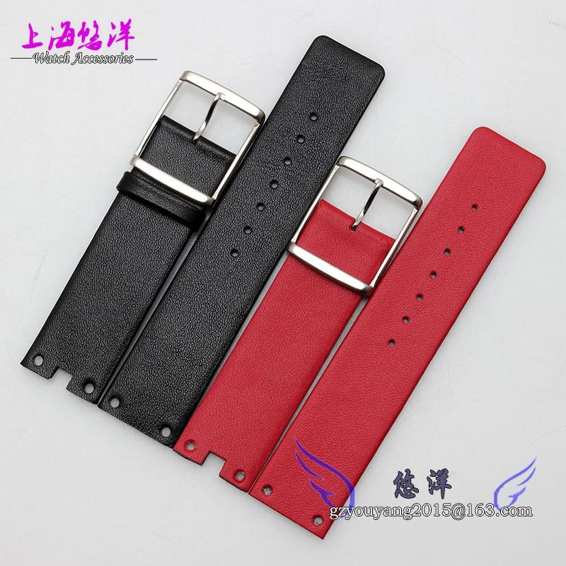 Ремешок для часов 21 мм * ( 18 мм пряжки ) новых людей женщин красный натуральная кожа часы группы ремни роуз часы пряжка