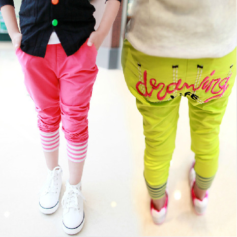 A childrens clothing on behalf of fast delivery Girl Candy Stripe healing sports pants trousers K068.<br><br>Aliexpress