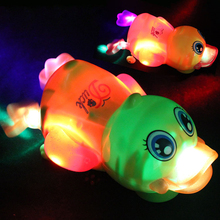 TOP Sale Music Electric Light Yellow Duck Toy Swimming Duck Electric toys free shipping(China (Mainland))