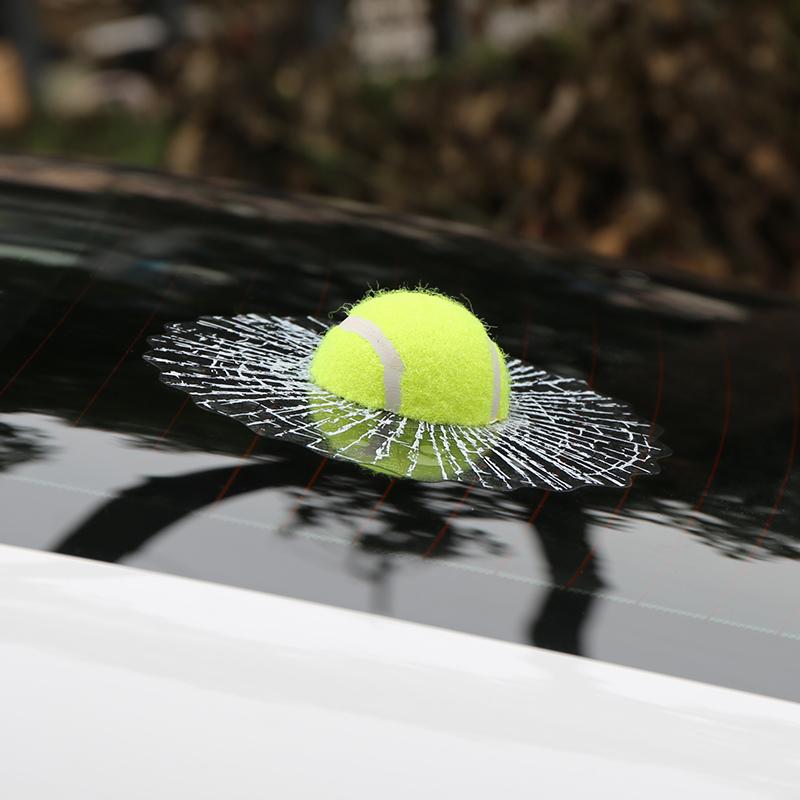 Car Styling Ball Hits 3D Car Sticker Window Tennis Car Body Sticker Self Adhesive Baseball Funny Car Stickers Decals Auto Audi(China (Mainland))