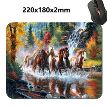 3 Kinds Running Horses Animal  Styles Mouse Mat Custom High Quality Non-slip and Durable Computer and Laptop Mouse Pad(China (Mainland))