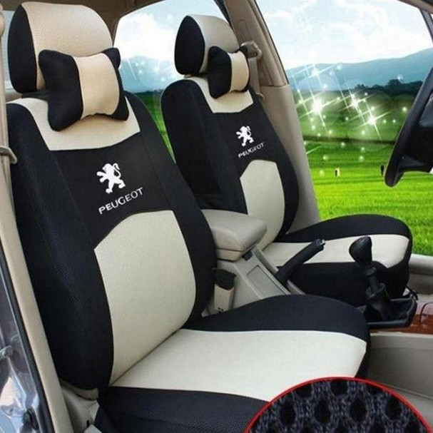 Фотография 4 COLOR Free shipping Embroidery logo Car Seat Cover Front&Rear complete 5 Seat For PEUGEOT SUV 3008 4008 2008 Four Seasons