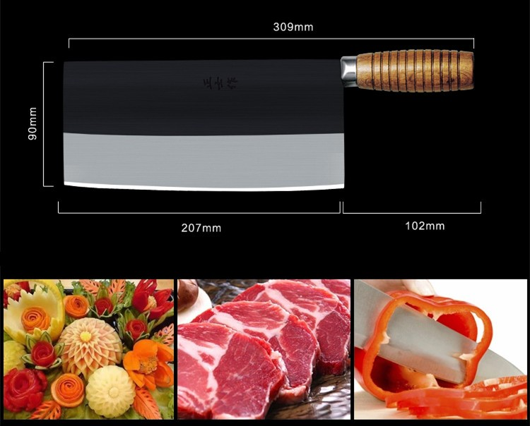 Buy Free Shipping ZSZ Kinmen Kitchen Forged Kitchen Multi-purpose Slicing Knife Meat Vegetable Cutting Knife Chef Cleaver Knives cheap