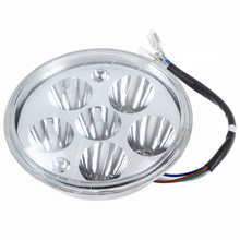 10PCS DC 12V 20W 6 LEDs White Light LED Motorcycle Headlamp Energy-Saving Head Lamp + 2 Colorful LED Bulbs(China (Mainland))