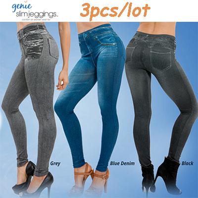 Hot sale Genie slim jeggings 3pcs/lot women leggings,jeans leggings for women,fashion leggings sport(China (Mainland))