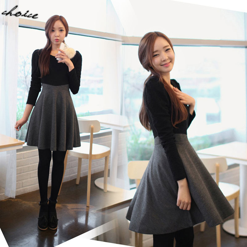 Korean Style 2015 Fashion Women Winter Dress Brand New