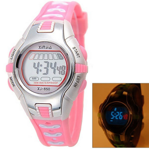 relogio digital Sport Watches 30M Waterproof Multifunction Climbing Dive LCD Digital Watches girl boy Wristwatch(China (Mainland))