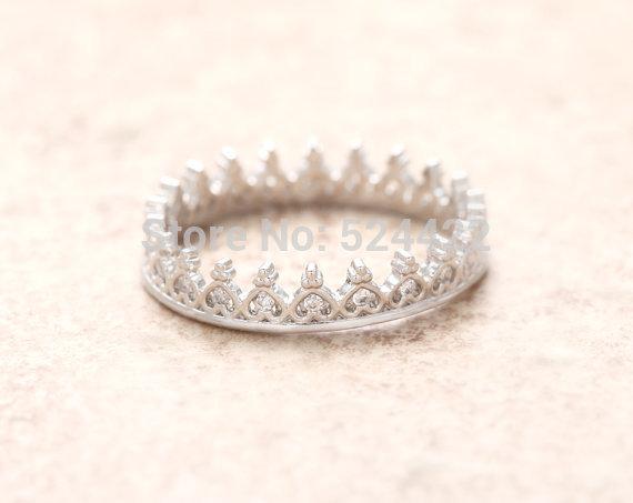 Free shipping 10pcs/lot Vintage crown ring Gold/Silver/Rose-gold tiara ring elegant finger ring JZ035(China (Mainland))