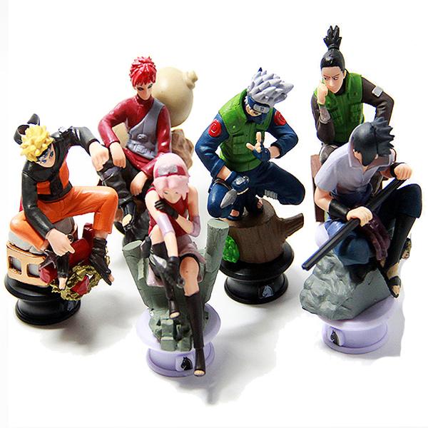 6pcs/lot Naruto 8cm Chess Action Figure New Sasuke Ninja Model Toy(China (Mainland))