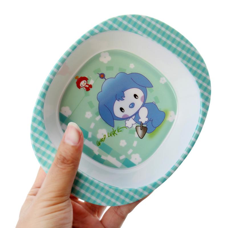 Newborn New Baby Kids Child Feeding bowl Set Training Bowl Cartoon Binaural Baby Feeding Tableware Children Plate Bowl Spoon